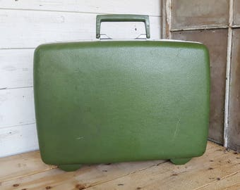Green 1970's Sears Courier Samsonite Suitcase