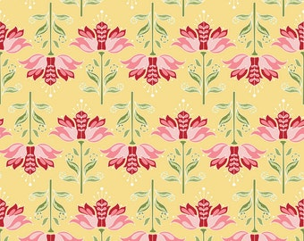 Riley Blake Apple Of My Eye Fabric by The Quilted Fish C2892 Floral Yellow