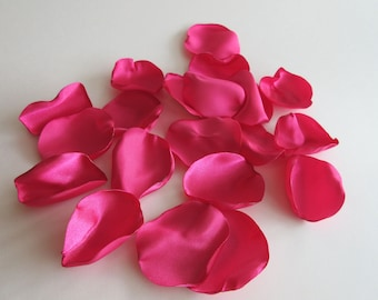 Flower Petals- Wedding Decor, Bridal Shower Decoration, Table Setting, Flower Girl, Baby Shower, Event Decor, Magenta Bright Pink, Petals