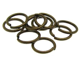 8mm Jump Rings : 100 Antique Bronze Open Jump Rings 8mm x .9mm (19 Gauge) -- Lead, Nickel, & Cadmium free Jewelry Finding 8/.9 -1