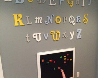 Wooden Alphabet Letters - Nursery Decor - Wall hanging Letters - Playroom Decoration - painted wooden letters - set of 26 wood letters, Wood