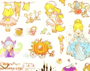Cinderella - Translucent Deco Sticker - Funny Sticker World - 1 Sheet