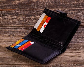 Leather wallet Mens leather wallet Leather coin purse Mens billfold wallet Leather organizer Business card wallet Leather card wallet