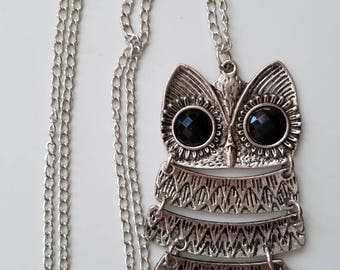 Wise Owl necklace and chain.