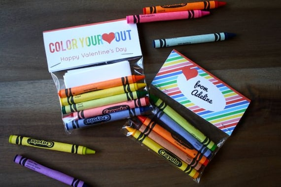Crayon Valentine's Day Card