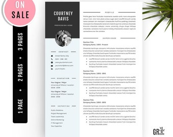 3 Pages Resume Template - Professional CV Template - for Microsoft Word (US Letter and A4) 1 2 3 Pages  - Instant Download