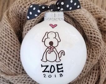 Dog Ornament - Personalized Ornament, Dog Lover Gift, Doggie Ornament, Personalized Dog Ornament, Pet Gift, Pet Lover Ornament, Christmas