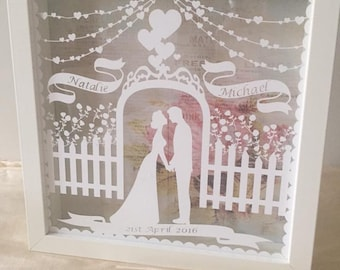 Personalised Wedding or Anniversary Box Frame Gift