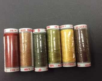 LESTER  x 6 100 metres  Sewing Threads  REF ET 1045