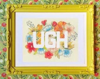 8x10 print - Wildflower - UGH Art Print