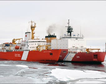 Poster, Many Sizes Available; Icebreakers Ccgs Louis S. St-Laurent And Uscgc Healy Arctic