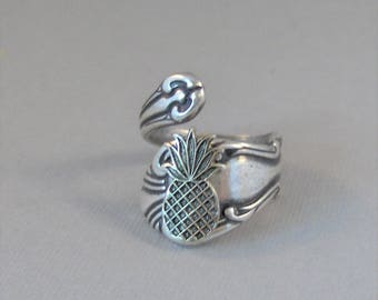 Pineapple,Ring,Silver,Friendship Ring,Friendship Jewelry,Friendship,Antique Ring,Silver Ring,Spoon Ring,Wedding,Bridesmaid.valleygirldesigns
