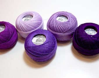 Tatting Thread, Lizbeth Cotton Crochet Thread, Purpleicious Collection, Purple Thread, Choose a Size 10, 20, or 40