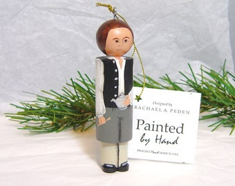 PAUL REVERE Ornament, American Revolution, hand painted on wood