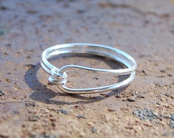 REDUCED PRICE. Sterling. Silver. Simple. Ring.