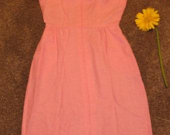 Vintage 1960's Pink Sue Brett Junior Dress with Pockets