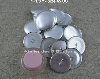 """10 Cover Buttons 1.1/8"""" (Size 45) with assembly tool"""