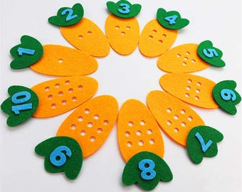 Felt Learning Toys, Quiet Toys, Toddler Gift, Toddler Toys, Counting Toys