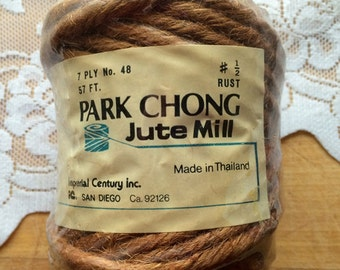 Park Chong Jute Mill Twine. 7 PLY. No. 48. Rust color. 57 ft.