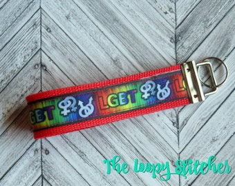 LGBT Rights Rainbow Keychain / Key Fob / Key Chain