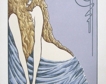Celeste, 12x9, serigraph, limited edition print, signed and numbered, wall art, john entrekin