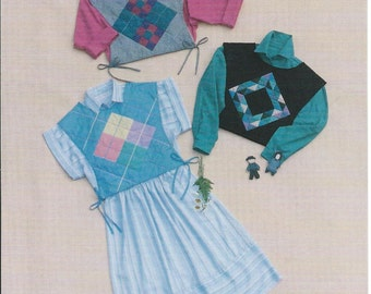 Quilted Block Tabard Vest Pattern Amish Argyle Wild Goose Chase Sizes 6 - 18