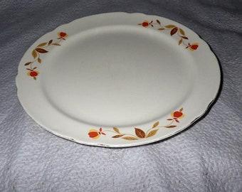 """Hall Autumn Leaf 10"""" Dinner Plate"""