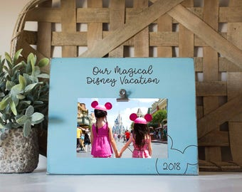 Vacation Picture frame, magical place on Earth frame, Magical Vacation picture frame, Custom Disney, Mouse ears frame frame