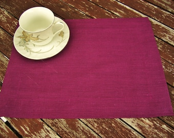 Dark Red Linen placemat, Handmade Table Linen, Linen Wedding Decor, Dining Supply, Home Textiles, Mitered Corners