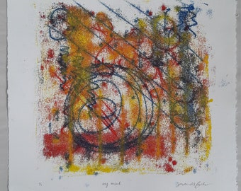 """Abstract Multicolored Print titled """"My Mind"""""""