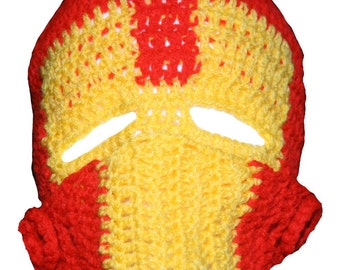 Ironman Inspired Hand Crocheted Hat  HH198