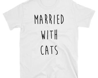 Married With Cats Cotton T-Shirt