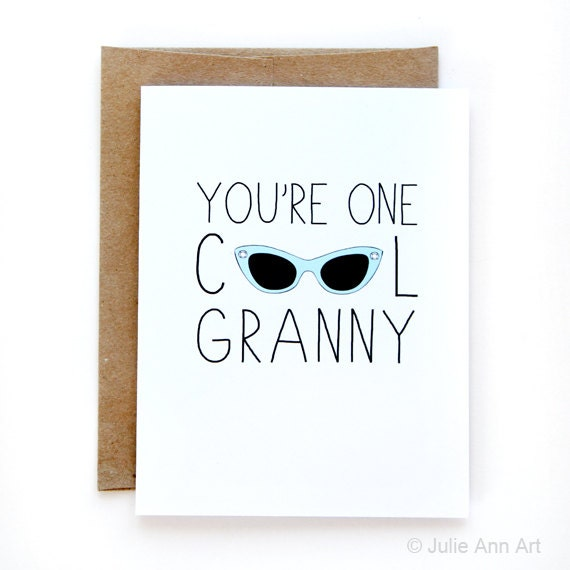 Mothers Day Grandma Card Youre One Cool Granny