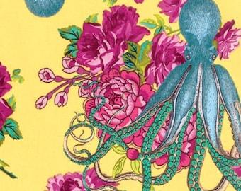 Octopus Nautical Decor, Shabby Chic Wedding, Neptunes Neverland in Yellow, NEPTUNE and MERMAID, Tokyo Milk, Beach Decor, Shabby Chic Nursery
