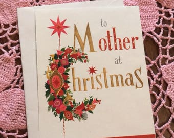 Vintage Hallmark For Mother Christmas Card