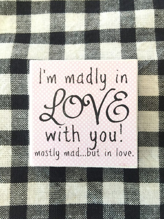 "Madly in Love with You 2"" x 2"" artist Canvas"