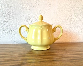 Vintage Yellow Sugar Jar