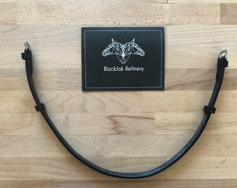 Throatlatch for Monocrown Bridle -- Black or Brown Leather