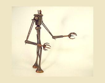 Human Walker Biped Steampunk Vehicle and Machine All Wood Replica Statue