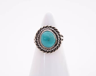 Vintage Native American turquoise ring / sterling silver and turquoise ring  / turquoise ring  /turquoise jewelry / Native American