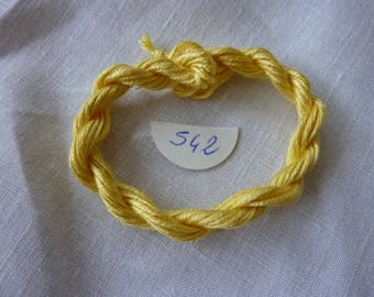 5 meters of silk yellow ref 542
