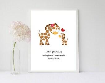 Nanny/Mothers day print