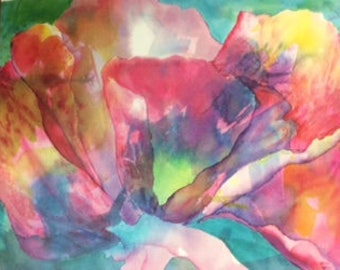 Greeting Card - Watercolor Poppy