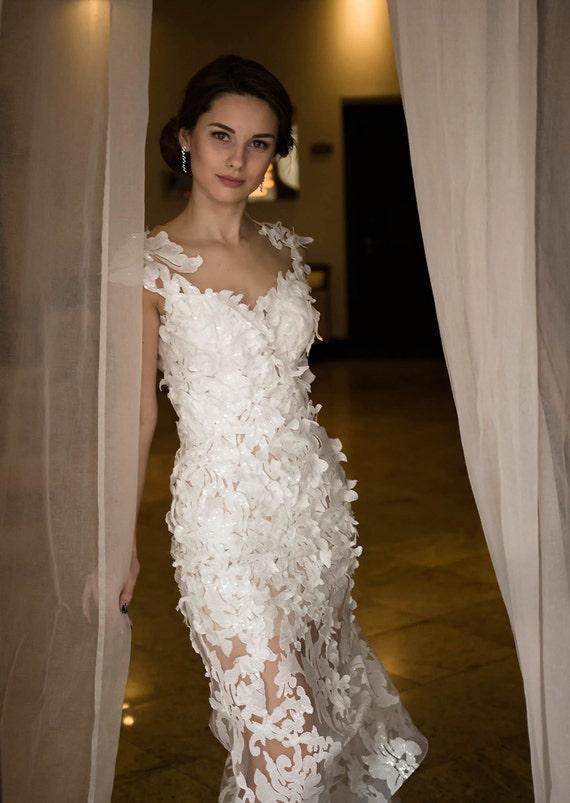 Sequin wedding dress White sequin dress Sleeveless wedding