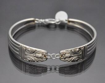 Antique Silverware Bracelet 1944 Danish Queen Vintage