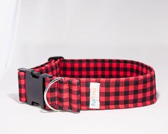 Buffalo Plaid Designer Dog Collar//Christmas Dog Collar//Plaid Dog Collar//Dog Collar Buffalo Plaid//Dog Collar Christmas