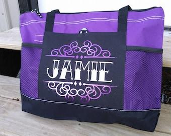 Personalized tote bag, monogrammed tote bag purse, diaper bag