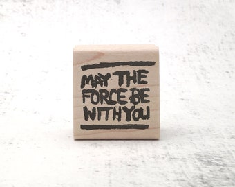 The Force Stamp - Jedi Inspired Rubber Stamp - Motivational and Inspirational Pen Pal Stationary - Teacher's Grading Stamp