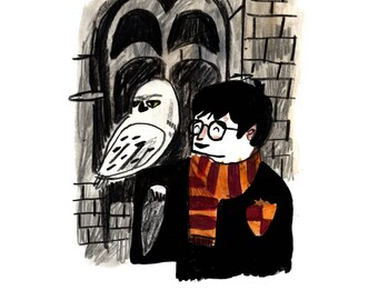 NEW// Harry Potter and Hedwig Postcard