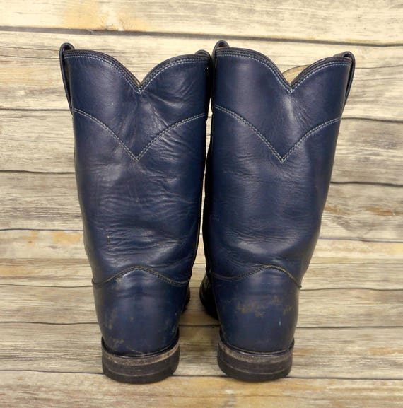 Country Leather Mens Cowboy B Ropers Narrow 5 Justin 8 Boots Size Blue Western qtfPnawR